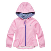 Champion® Fleece High-Low Zip Hoodie - Preschool Girls 4-6x