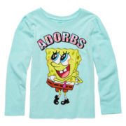 SpongeBob Long-Sleeve Adorbs Tee - Preschool Girls 4-6x