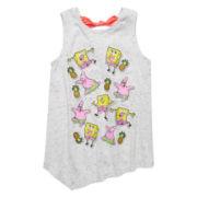 SpongeBob Stickers Tank Top - Preschool Girls 4-6x
