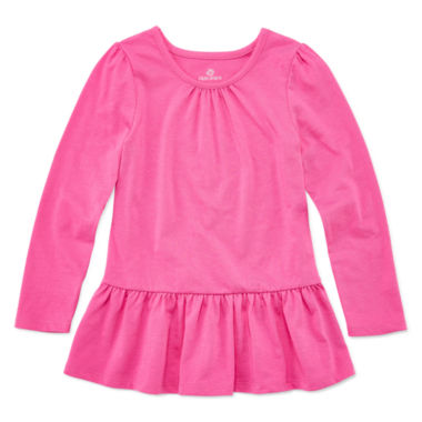 jcpenney.com | Okie Dokie® Long-Sleeve Peplum Top - Toddler Girls 2t-5t