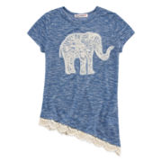Almost Famous Short-Sleeve Appliqué Top - Girls 7-16