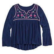 Arizona Long-Sleeve High-Low Top - Girls 7-16