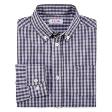 jcpenney.com | IZOD® Long-Sleeve Gingham Shirt - Boys 8-20