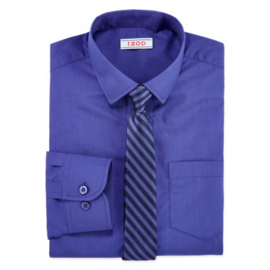 jcpenney.com | IZOD® Fashion Dress Shirt & Tie Set - Boys 8-20