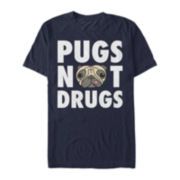 Pugs Not Drugs Short-Sleeve Tee