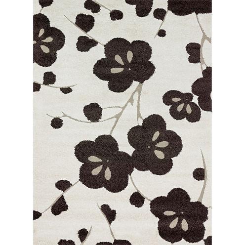 Loloi Floral Rectangular Rug