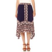 a.n.a® Woven Asymmetrical Skirt - Petites