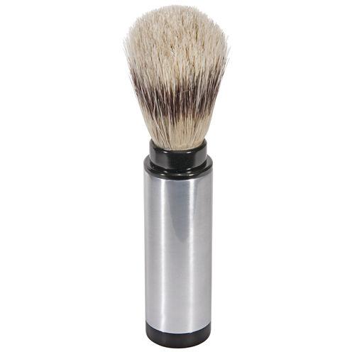 Naturally by Kingsley Chrome Travel Shaving Brush