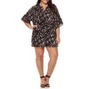 Boutique+™ Flutter-Sleeve Romper - Plus