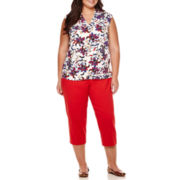 Liz Claiborne® Sleeveless Blouse or Emma Ankle Pants