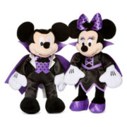 Disney Collection Small Mickey or Minnie Vampire Plush