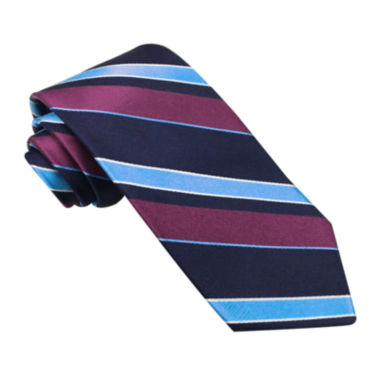 jcpenney.com | Stafford® Perfectly Plaid Stripe Silk Tie