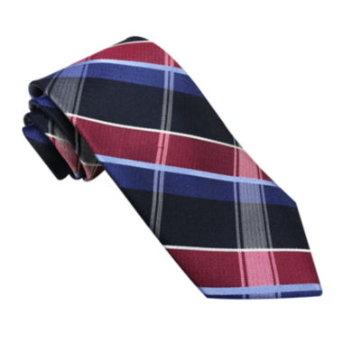 jcpenney.com | Stafford® Perfectly Plaid Silk Tie