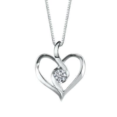 Sirena womens diamond accent white diamond 10k gold pendant sirena womens diamond accent white diamond 10k gold pendant necklace aloadofball Choice Image