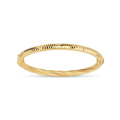 bamboo bracelet product in metallic slim bangle bangles lyst jewelry gold john hardy