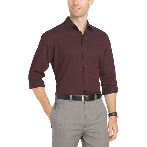 Van Heusen Long Sleeve Sateen Stripe Shirt