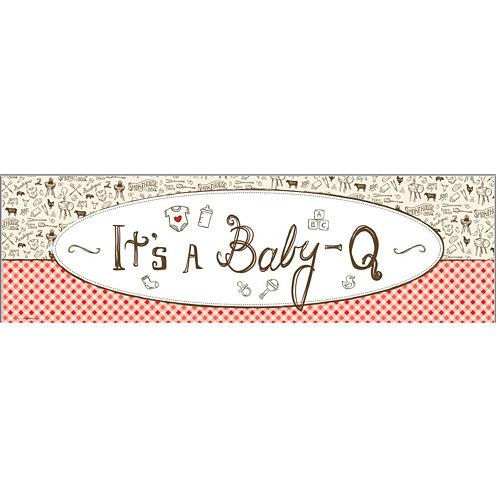 Baby-Q Shower Banner