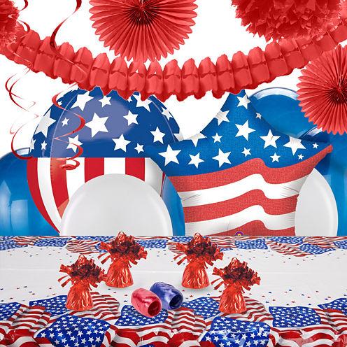 Patriotic USA Flag Deco Kit