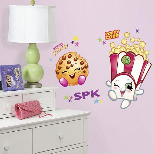 Poppy Corn & Kooky Cookie Shopkins Giant Wall Decals