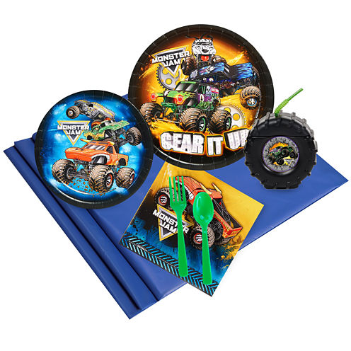 Monster Jam 16 Guest Party Pack Plus Molded Cups