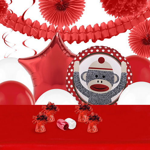 Sock Monkey Red Deco Kit
