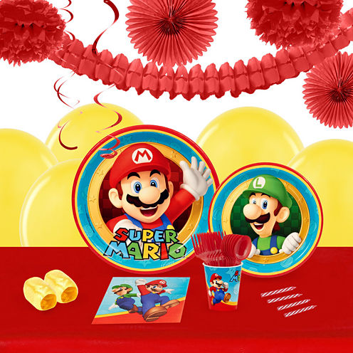 Super Mario Party 16 Guest Tableware & Deco Kit