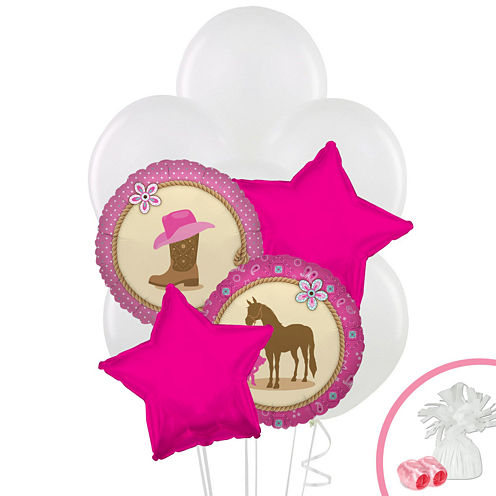 Western Cowgirl Party Balloon Bouquet