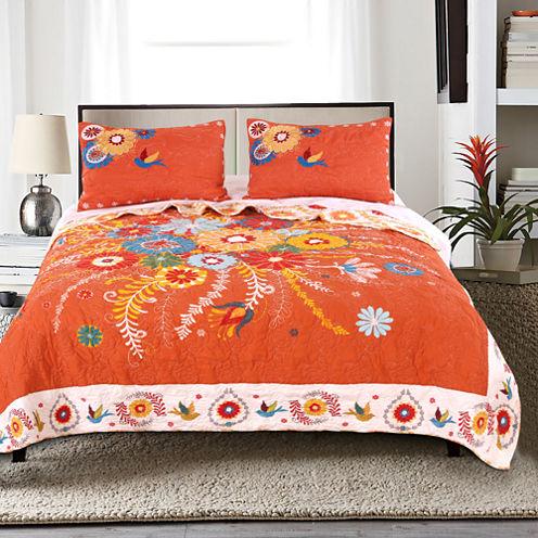 Palace Pets Topanga 3-pc. Floral Quilt Set
