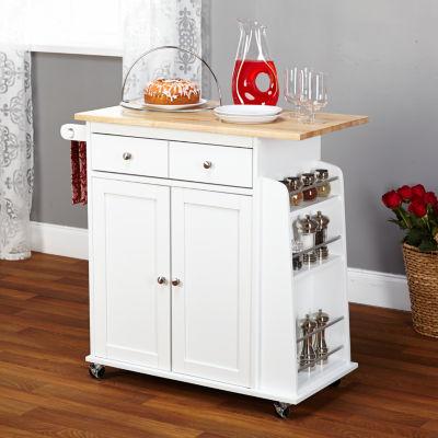 Sonoma Wood Top Kitchen Cart