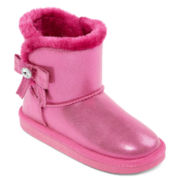 Arizona Miley Girls Glitter Boots - Toddler