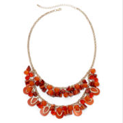 Mixit™ Gold-Tone Orange Two-Row Shaky Necklace