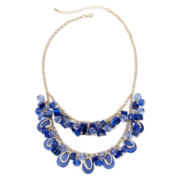 Mixit™ Gold-Tone Blue Two-Row Shaky Necklace