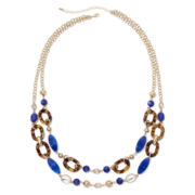 Mixit™ Gold-Tone Multicolor Two-Row Long Necklace