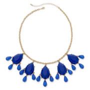 Mixit™ Gold-Tone Blue Teardrop Shaky Necklace