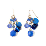 Mixit™ Gold-Tone Blue Cluster Drop Earrings