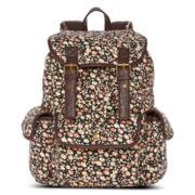 Olsenboye® Floral Ditsy Print Corduroy Cargo Backpack