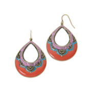 Decree® Gold-Tone Floral Teardrop Earrings