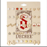 Decree® Gold-Tone 20-pc. Stud Earring Set