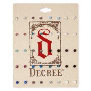 Decree® Silver-Tone Multicolor 20-pc. Stud Earring Set