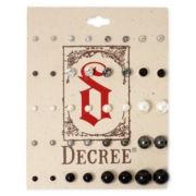 Decree® Silver-Tone Simulated Pearl and Stone 20-pc. Stud Earring Set