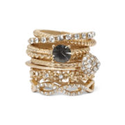 Decree® Gold-Tone Textured 7-pc. Ring Set