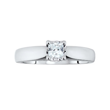 jcpenney.com | TruMiracle® ½ CT. T.W. Diamond Princess Engagement Ring