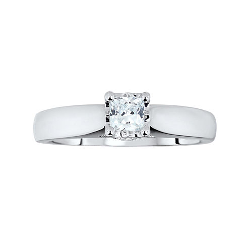 TruMiracle® ½ CT. T.W. Diamond Princess Engagement Ring
