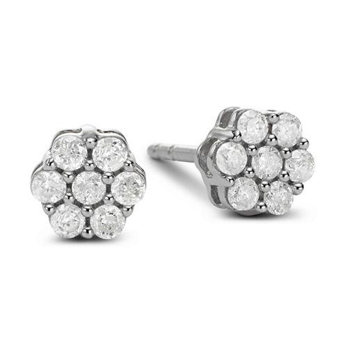 diamond blossom 1/3 CT. T.W. Diamond Cluster Stud Earrings