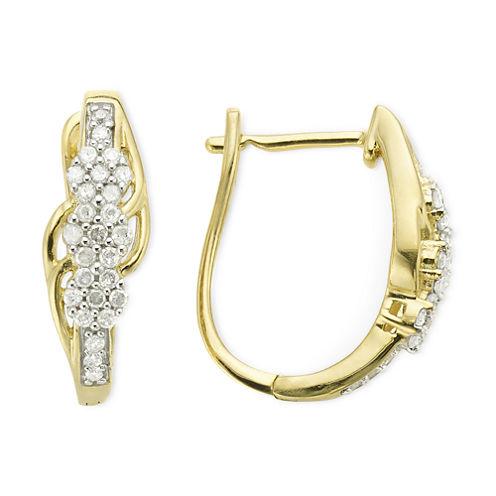 diamond blossom 1/4 CT. T.W. Diamond Cluster Earrings