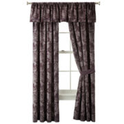 Liz Claiborne® Rose Jacquard 2-Pack Curtain Panels