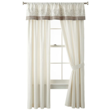 jcpenney.com | Liz Claiborne® Bianca Border 2-Pack Curtain Panels
