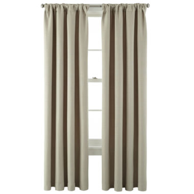 jcpenney.com | MarthaWindow™ Hampton Basketweave Rod-Pocket/Back-Tab Curtain Panel
