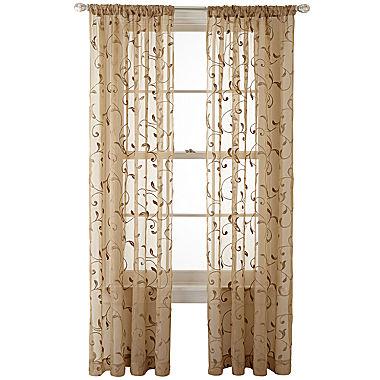 Decorating sheer panels for windows : Royal Velvet Harmon Rod Pocket Sheer Panel