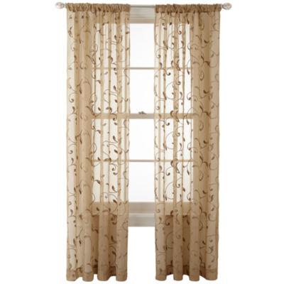... Curtains on Pinterest | Decorating sheer panels for windows : Royal  Velvet Harmon Rod Pocket Sheer Panel ...